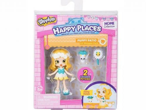Shopkins  Happy Places Season 2 Lil' Shoppie Pack PUPPY PATIO - DAISY PETALS